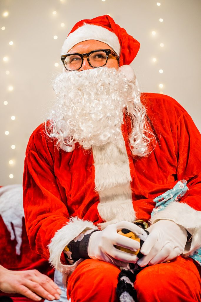 Comedian Alan Carr dressed as Santa