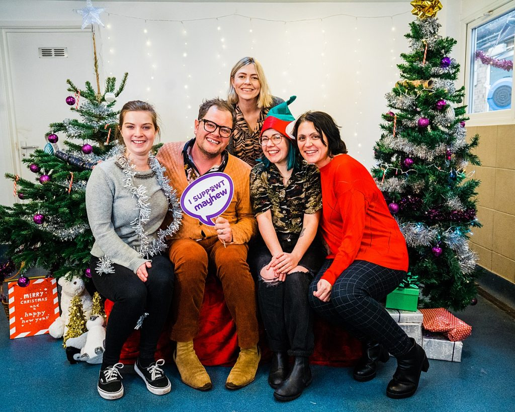 Pet Business Photography - Mayhew marketing team photo with Alan Carr