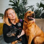 dog photographer pooch and pineapple with her two dogs
